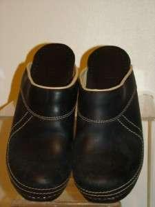 Sanita Black Slide Mules Clogs Sandals Shoes Size 41 10.5 11
