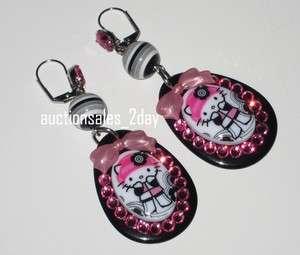 Tarina Tarantino Pink Head MOD Hello Kitty Crystal Cameo Dangle