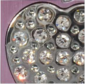 SILVER CHROMED METAL ALUMINIUM BLING DIAMOND CASE COVER FITS FOR