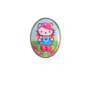 Tarina Tarantino Hello Kitty Pink Head Rose Mod Ring