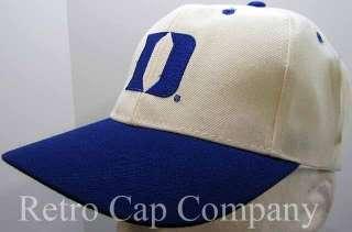 DUKE UNIVERSITY BLUE DEVILS VINTAGE RETRO SNAPBACK CAP