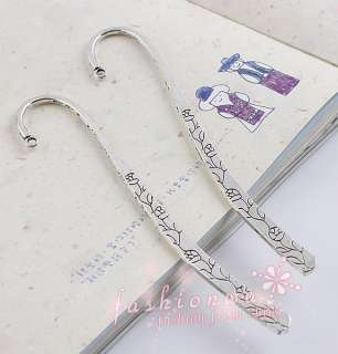 10 Ancient Silver Plated Flower Design Bookmark 120mm 1
