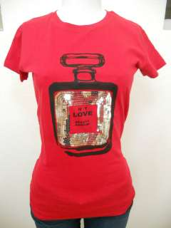 Silver Sequins Love Potion No1 Perfume Bottle T Shirt New Cute