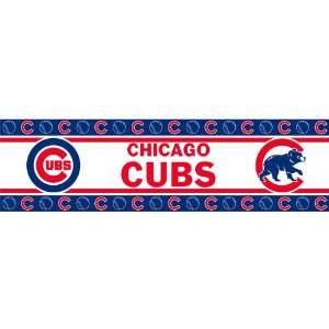 Chicago Cubs MLB Self Adhesive Wall Border   Double Pack