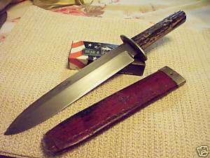 ANTIQUE SHEFFIELD BOWIE KNIFE  HARRISON BROS & HOWSON