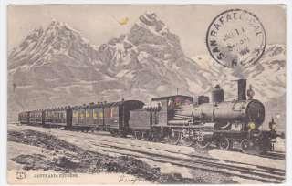 Switzerland Gotthard Express 1906 Train Hold To Light HTL Postcard