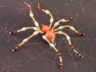 Stunning Sea Coral Swarovski Crystal Pearl Christmas Ornament Spider