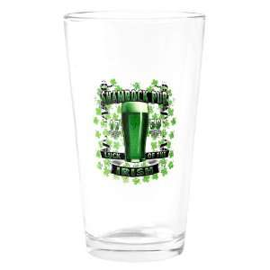 Pint Drinking Glass Shamrock Pub Luck of the Irish 1759 St
