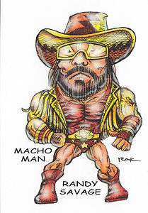 Macho Man Randy Savage Superfreeks Card SIGNED by RAK