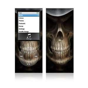 Apple iPod Nano 4G Decal Skin   Skull Dark Lord