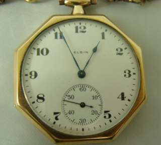 Antique Elgin Pocket Watch w. small picture case & chain