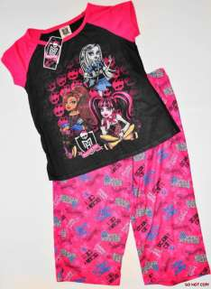 NEW GIRLS MONSTER HIGH PAJAMAS PYJAMAS PJS