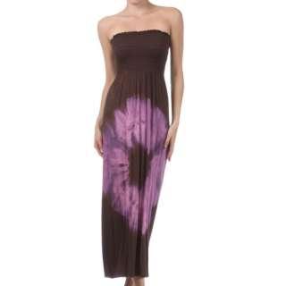 Long Printed Summer Beach Strapless Maxi Party Dress