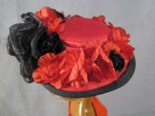 Sultry Nights a OOAK High Fashion Doll Hat on my Barbie Doll
