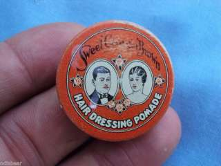 Sm. Antique SWEET GEORGIA BROWN Hair Pomade Sample TIN