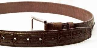 CROC PRINT Genuine Leather BELT Avail. in BLACK BROWN TAN ZP#32