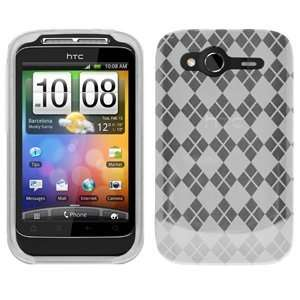 High Quality Amzer Luxe Argyle High Gloss Tpu Soft Gel Skin Case Clear