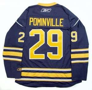 Jason Pominville Autographed Buffalo Sabres Blue Hockey Jersey