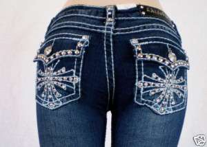 Miss La Idol Jeans Rhinestone Cross True To Size. 1 13