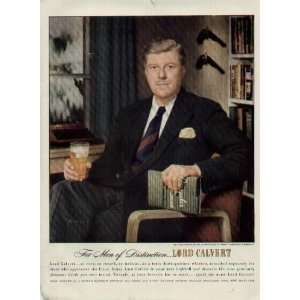 Gentleman.  1948 LORD CALVERT Whiskey Ad, A5816A. 19480105
