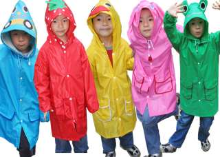 Cartoon Japan Stylish Baby Child Boys Girls Raincoat