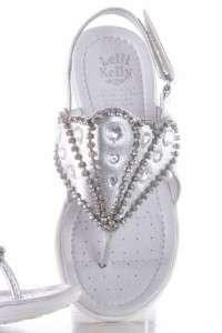 Lelli Kelly LK8579 Strass 3 Silver Sandals girl shoes