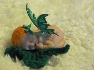 OOAK Polymer Clay St Pattys Day Baby