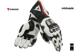 NEW   DAINESE FULL METAL PRO RACING GLOVES   WHITE BLACK RED LAVA