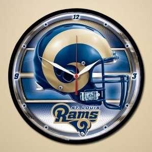 St. Louis Rams Helmet & Name Round Wall Clock Sports