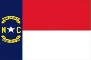 NORTH CAROLINA VINYL STATE FLAG DECAL / STICKER***