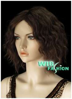 New Fashion 24cm Short Dark Brown Hair Wig NO34