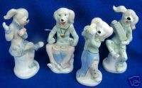 PC CERAMIC DOG BAND FIGURINES SET THOSE DOGS CAN PLAY