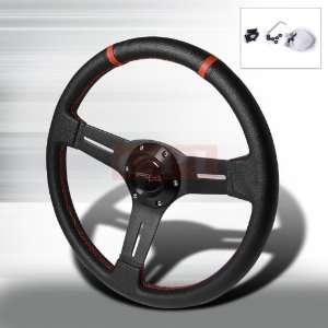 Deep Dish Steering Wheel   Pvc Leather 340Mm PERFORMANCE