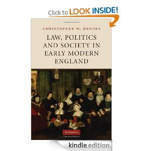 Law, Poliics and Sociey in Early Modern England Brooks