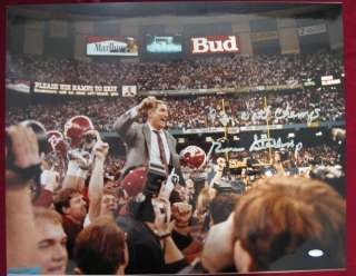 Gene Stallings Alabama Signed/Autographed Inscrip 92 Natl Champs