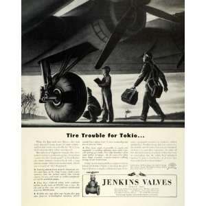 1944 Ad Jenkins Military Aircraft Engineer Tire Valves