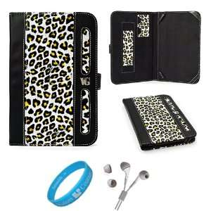 Black and Yellow Leopard Executive Leather Book Style