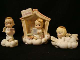 Precious Moments**RARE** 3 Pc Set The Good Book Library