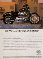 1992 Harley Davidson Sportster 883 Motorcycle print ad