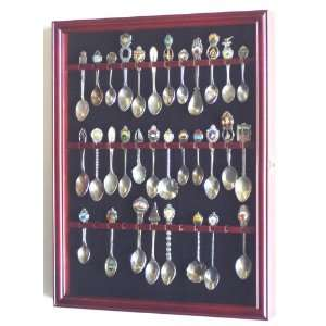 36 Spoon Display Case Rack Cabinet Holder Wall Mounted