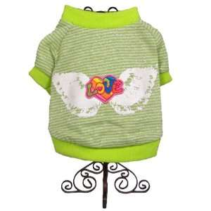Dog and Cat Glittery High Quality T SHIRT   Small   Neon