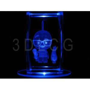 Disney Chicken Little 3D Laser Etched Crystal Everything