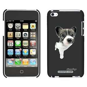 Papillon Puppy on iPod Touch 4 Gumdrop Air Shell Case