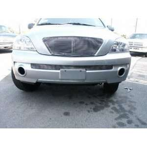 FRONT BUMPER GRILLE SUV, CUT OUT ALUMINUM POLISHED GRILLE, SORRENTO