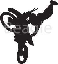 Large motorcycle wall sticker (approx 60 x 54 cm)