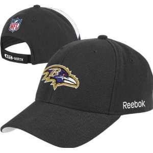 Baltimore Ravens Black Sideline Wool Blend Structured
