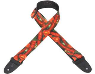 Levys Poly Guitar Strap 2   Red Hot Chili Peppers NEW