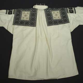 embroidered ethnic folk costume shirt Slovak KROJ vintage embroidery