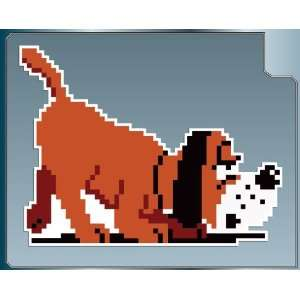 DOG Sniffing Ground sprite from DUCK HUNT vinyl decal