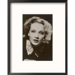 Marlene Dietrich German Film Actress in Soft Focus Framed